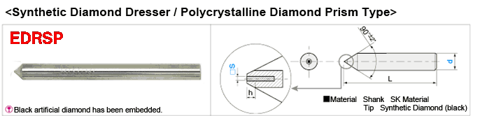 Synthetic Diamond Dresser, Economy Polycrystalline Diamond Prism Model:Related Image