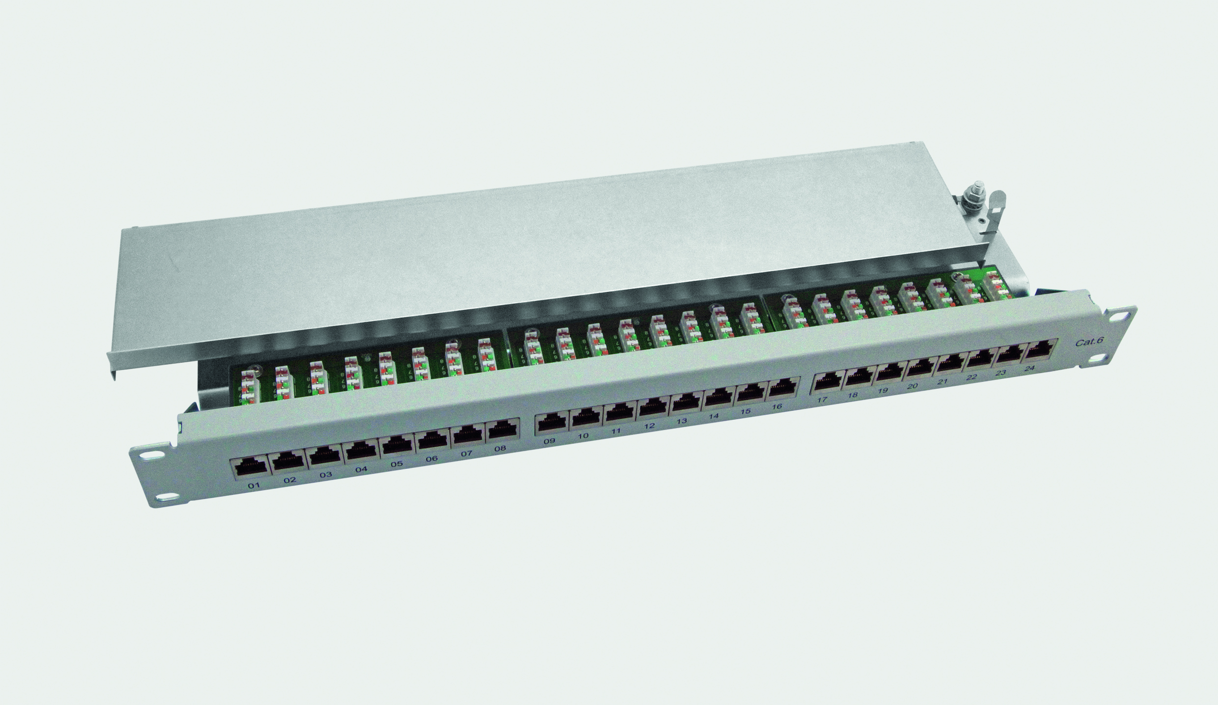 "19"" 1HE 24-Port RJ45 Patchpanel CAT.6 CLASS E"