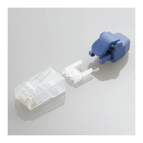 Cat5e/Cat6 LAN Connector with Protector with Unbendable Tab