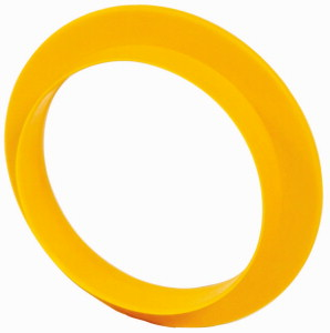 Emergency-stop/switching off label, D = 36mm, with integrated yellow collar