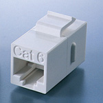 Cat5e modular jack relay adapter with JJ claw