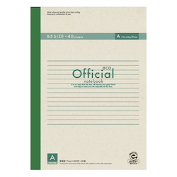 Official Eco Notebook B5 A Rule 40 Sheets