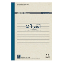 Official Eco Notebook B5 B Rule 40 Sheets
