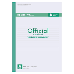 Official Notebook B5 A Rule 40 Sheets