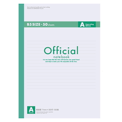 Official Notebook B5 A Rule 50 Sheets