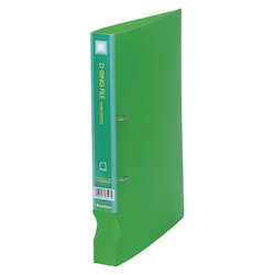 D-Ring File Translucent A4 Vertical Type (34 mm Wide) Light Green