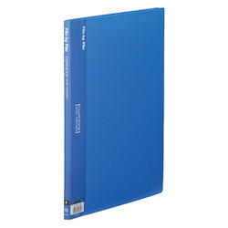 Clear Book, A4, 10P, Blue