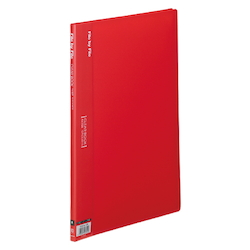 Clear Book, A4, 10P, Red