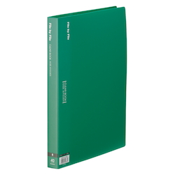 Clear Book, A4, 40P, Green