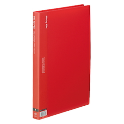 Clear Book, A4, 40P, Red
