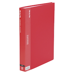 Clear Book, A4, 60P, Red