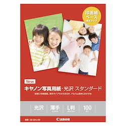 Photographic Paper, Glossy Standard, L Size, 100 Sheets