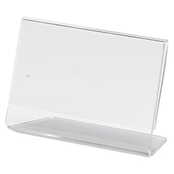 L-Type Sign Holder One-Sided Business Card Size Landscape