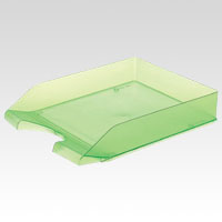 Letter Tray A4 Vertical Green