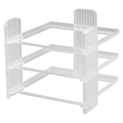 Letter Tray Rack Clear
