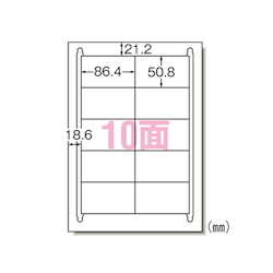 Laser Printer Label A4 Size 10 Labels/Sheet