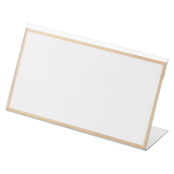 L-Type Card Stand, Recycled PET Outer Dimensions: Width 150 x Height 83 mm