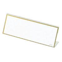 L-Type Card Stand, Recycled PET Outer Dimensions: Width 180 x Height 68 mm