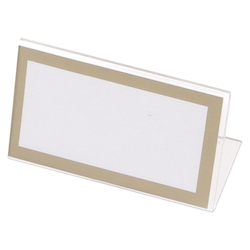 L-Type Card Stand, Recycled PET Outer Dimensions: Width 50 x Height 33 mm