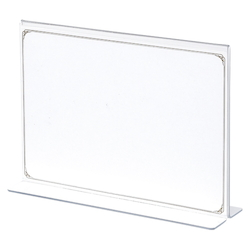 Model T Menu Stand, Transparent Outer Dimensions: Width 210 x Height 150 mm