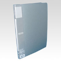 u green Clear File A4, A4 Size Vertical Type (20 Pockets) Silver