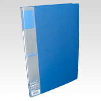 u green Clear File A4, A4 Size Vertical Type (20 Pockets) Blue