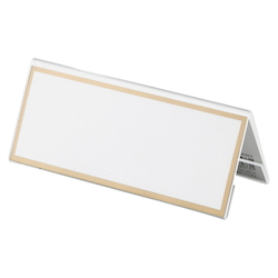 Acrylic Card Stand V Type, Transparent Outer Dimensions: Width 150 x Height 63 mm