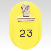 Parent/Child Tags, Continuous Numbers 1-50 Yellow