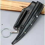 Black Split Leather Shino ・ Hacker Sheath