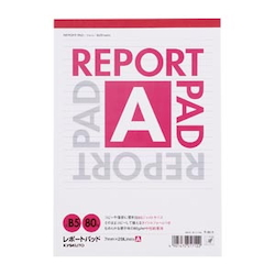 Report Pad Standard A Line (7 mm) B5 Vertical Number of Inner Pages 80 Sheets