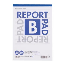Report Pad Standard B Line (6 mm) B5 Vertical Number of Inner Pages 50 Sheets