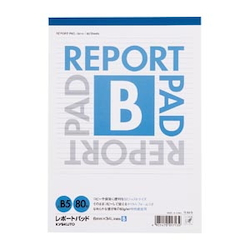Report Pad Standard B Line (6 mm) B5 Vertical Number of Inner Pages 80 Sheets