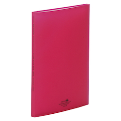 Clear Book, Side Vents, Red