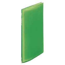 Request / Transparent Clear Book, A4 Size Portrait, (10 Pockets), Yellow Green