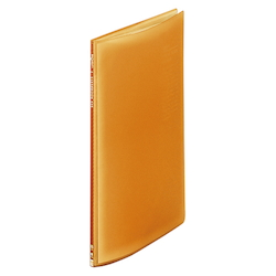 Request / Transparent Clear Book, A4 Size Portrait, (10 Pockets), Orange