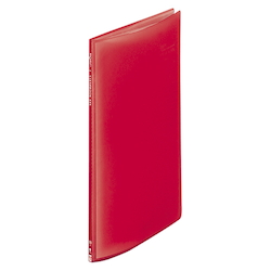 Request / Transparent Clear Book, A4 Size Portrait, (10 Pockets), Red