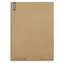 A4 Spiral Note, Horizontal Lines, 40 Pages