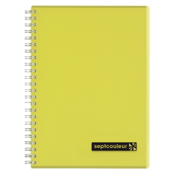 Sept Couleur Notebook A5 Yellow