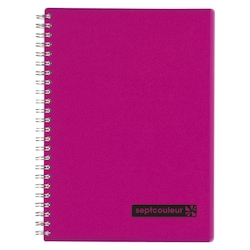 Sept Couleur Notebook A5 Pink