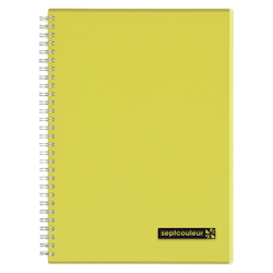 Sept Couleur Notebook B5 Yellow