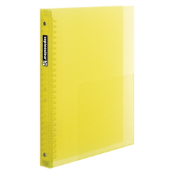 Sept Couleur Plastic Binder Thick Type B5 Size (26 Holes) Yellow
