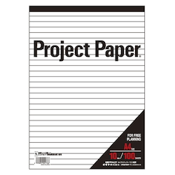 Project Paper A4 10 mm, Ruled Paper