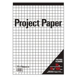 Project Paper B5 10 mm, Graph Paper