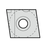Tips (for Sumiboron Grooving Bits GWB Type for Hardened Steel)