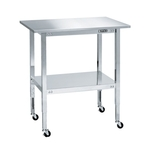 Stainless Steel Mobile Table with Wide Top 2