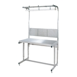 Height Adjustable Stainless Steel Work Table, with Free Hanger