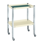 Utility Cart Height-adjustable Type with Deep Tray
