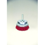Grit Shaft Mounted Cup Brush with Abrasive Grain #60