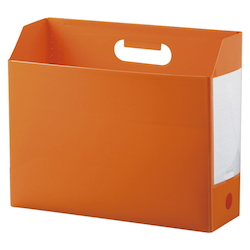 Add One, Box File, A4, Lateral, Orange