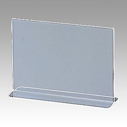 A6 Double-Sided Horizontal Sign Stand